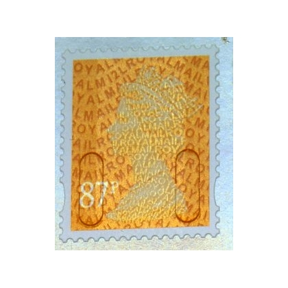 3087 87p orange M12L MAIL definitive 2012