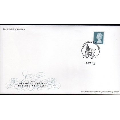 20121001 Diamond Jubilee booklet stamps on FDC