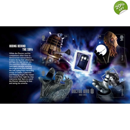 3451x Doctor Who mini-sheet pane from PSB