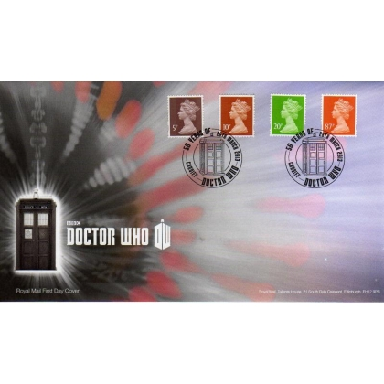 20130326 Machin definitives from Dr Who PSB on FDC