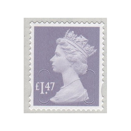 3147 £1.47 Dove Grey M14L Machin definitive 3 dates