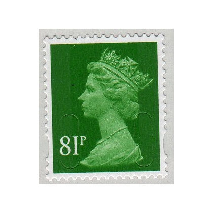 3081 81p Holly Green M14L Machin definitive