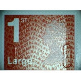 2937.4 1st Large red MA14 MFIL ex book..