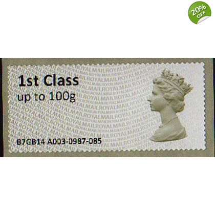 FS01.3t1 1st class Machin Faststamp new font issued at York Show