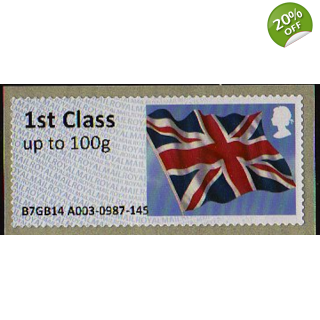 FS09 t1 1st class Union Flag Faststamp..