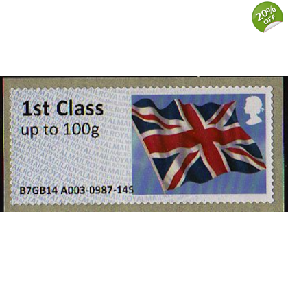 FS09 t1 1st class Union Flag Faststamps with modified font.