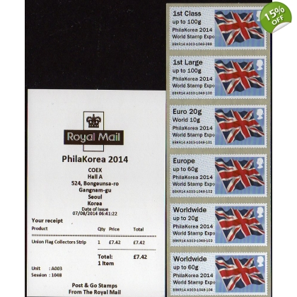 FV07a PhilaKorea 2014 Stamp Expo KR Union Flag Faststamps