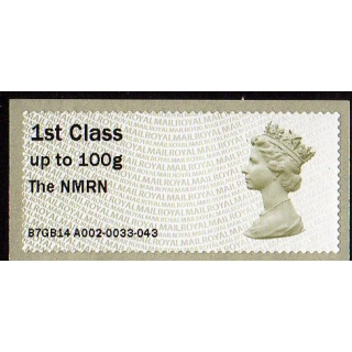 FV10 NMRN 1st class Machin Faststamps ..