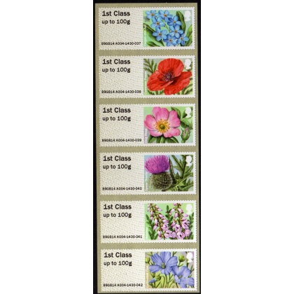 FS16c-1 Symbolic Flowers Faststamps 6 x 1st