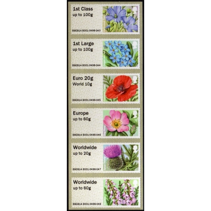 FS16c Symbolic Flowers Faststamps collectors set