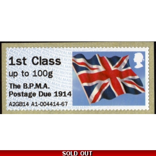 FV06a Union Flag BPMA Postage Due 1st ..