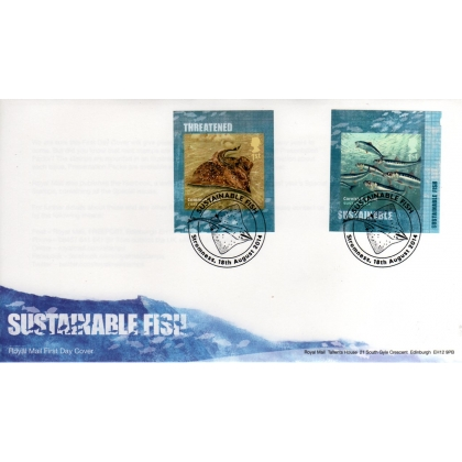 3623 Sustainable Fish booklet stamps first day cover 2014