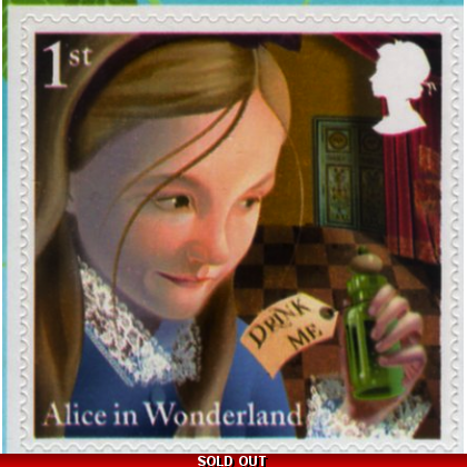 3668-9 Alice in Wonderland self-adhesive stamps fromretail booklet 2015