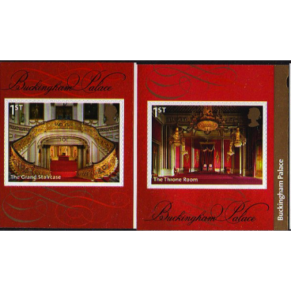 3595-6 Buckingham Palace self-adhesive pair from retail booklet