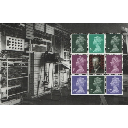 4001P.4 1p, 2p, 81p, 97p MPIL M14L set of 4 Machin Definitives from Inventive Britain PSB