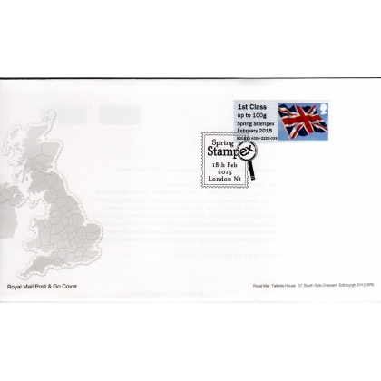 FS09ua Spring Stampex 1st class Union Flag FDC