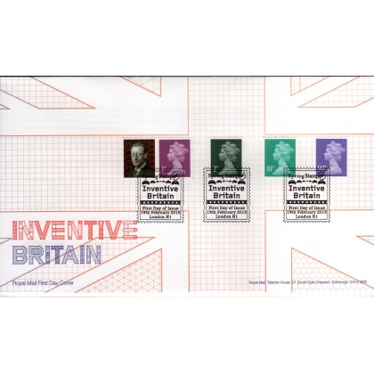 20150219 FDC Set of 4 Machin Definitives MPIL M14L from Inventive Britain PSB 1p 2p 81p 97p