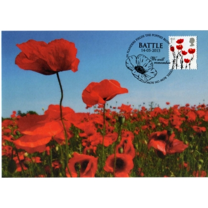 3717mx2 Poppy maximum card - in Flanders Fields.