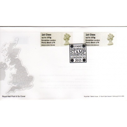 FT05f Europhilex Penny Black Faststamps FDC
