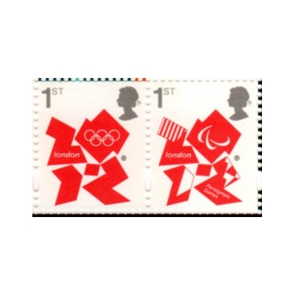 3337-38 Olympic Definitive Gummed 1st class pair from PSB