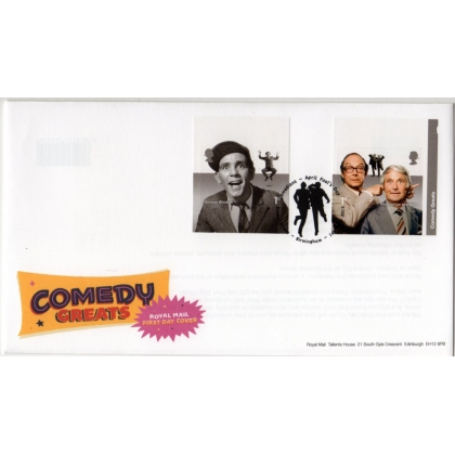 3707 Comedy Greats pair from retail booklet first day coevr 2015
