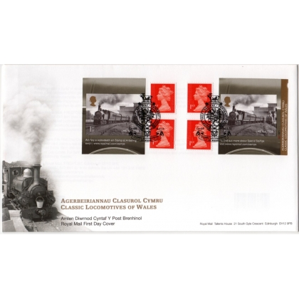 3634 Locomotives of Wales booklet first day cover 2014