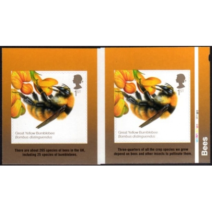3743 British Bees 1st class self-adhesive from retail booklet 2015