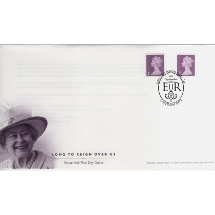 20150909 1st purple Long To Reign Over Us FDC Booklet & Counter Sheet