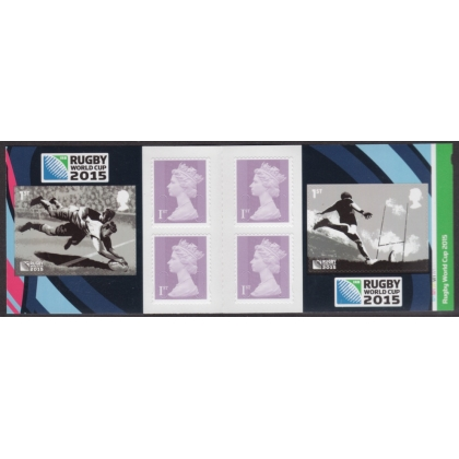 PM49 Rugby World Cup self-adhesive retail booklet 2015