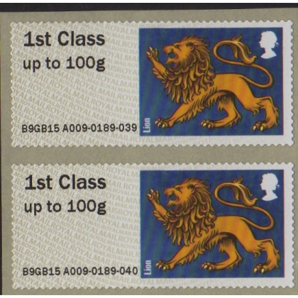 FS20d Heraldic Beasts Lion Faststamps single design roll