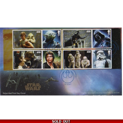 3758f Star Wars Set from Generic Sheet First Day Cover