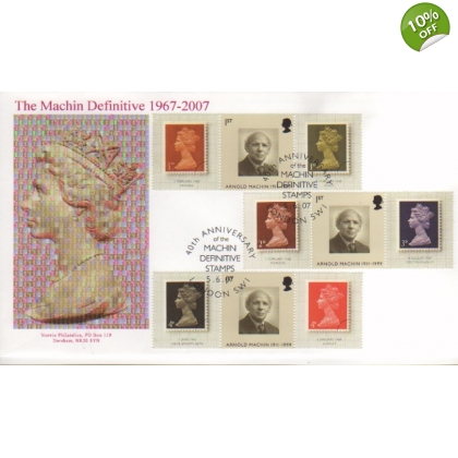 2741s Machin Anniversary Smilers Sheet Norvic First Day Cover Set