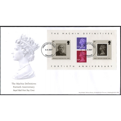 2743a Machin Anniversary MS Royal Mail First Day Cover