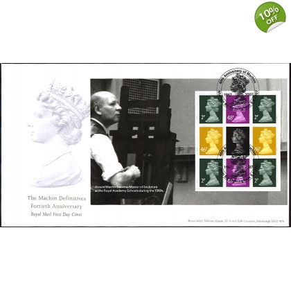 2741r Machin Anniversary Prestige Book Royal Mail First Day Cover Set