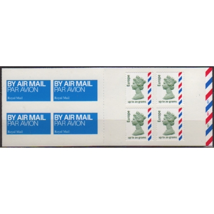 MI3 Europe 20g airmail booklet