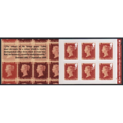 MB16 1d red anniversary booklet - cylinder or plain [MB15]