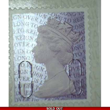 3745a.6 1st purple ex booklet of 6, O16R year code Long to Reign Over Us