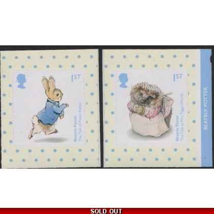 3867-8 Pair of Beatrix Potter self-adhesive booklet stamps