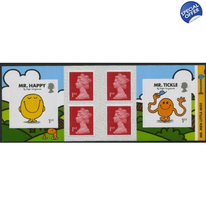 PM54 Mr Men 6 x 1st retail book with 1st deep scarlet MCIL M16L