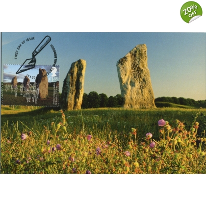 3916x1 Avebury Stone Circle World Heritage Site Maximum Card 1
