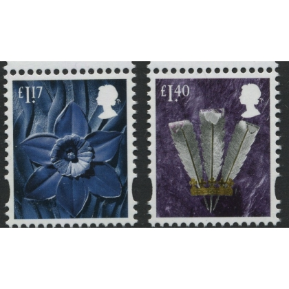 W151+157 £1.17 & £1.40 Wales 2017 - incl cylinder & date blocks