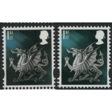 W122c Wales 1st class litho Cartor fro..