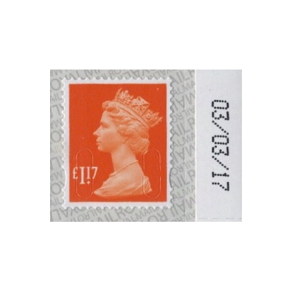 3117 £1.17 Machin Definitive 2017 on SBP2
