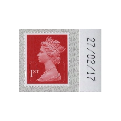 2914a.7 1st deep scarlet M17L MAIL counter sheets 2017 reprint on SBP2