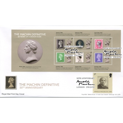 3964MS 50 Years a Design Icon Machin Anniversary MS FDC
