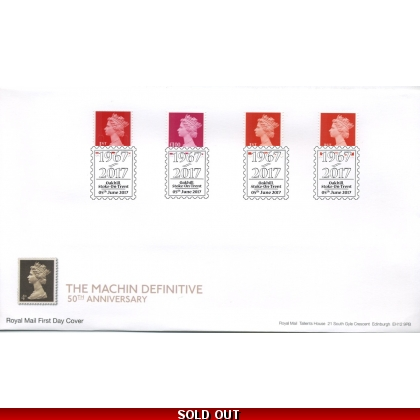 20170605 Machin Anniversary security stamps FDC