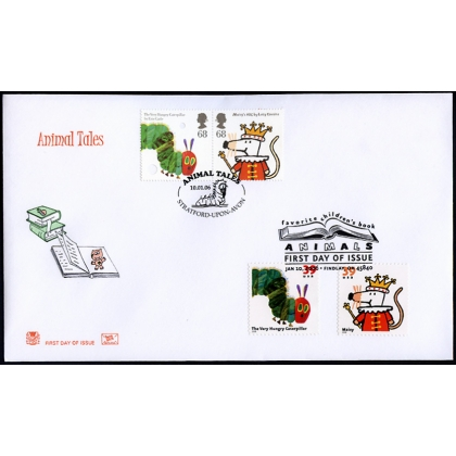 2589s1 Animal Tales joint US GB issue on Stuart fdc