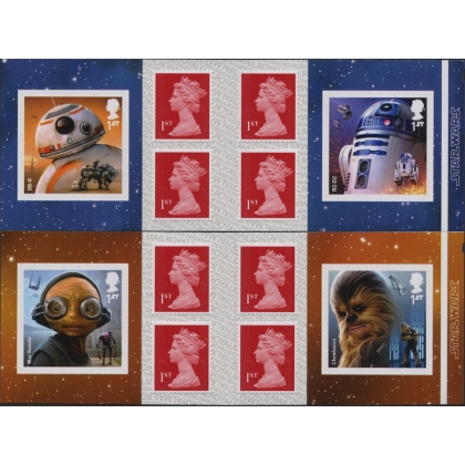 4015-8 Star Wars set of self-adhesive booklet stamps