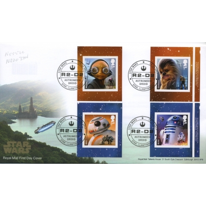 4015-8f Star Wars Booklet Stamps FDC 2017