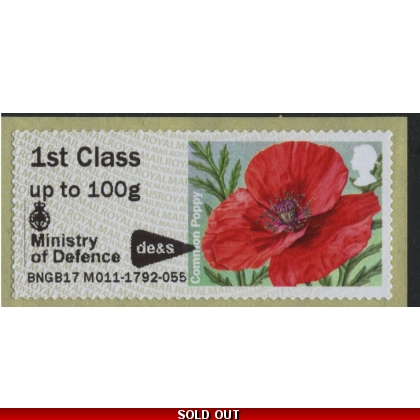 FT23 Poppy MA15 Post & Go CS with MoD Logo from M011